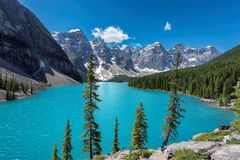 Bello paesaggio in Rocky Mountains, Canada Immagine Stock Libera da Diritti