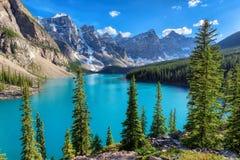 Bello paesaggio in Rocky Mountains, Canada Fotografia Stock