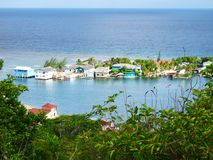 Bello paesaggio in Santos Guardiola, Roatan fotografia stock