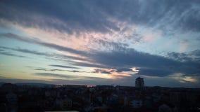 Bello paesaggio sopra Kragujevac, Serbia fotografia stock libera da diritti