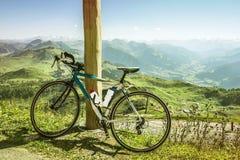 Bello paesaggio sul picco di Kitzbuhel, Tirolo, Austria Fotografie Stock Libere da Diritti