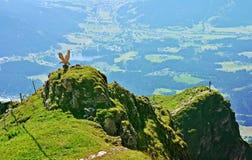 Bello paesaggio sul picco di Kitzbuhel, Tirolo, Austria Fotografia Stock Libera da Diritti