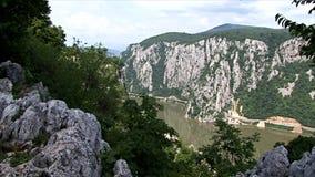 Bello paesaggio sulla gola di Danubio archivi video