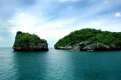 Bello paesaggio in Tailandia Fotografia Stock