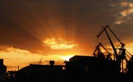 Bello paesaggio urbano industriale Fotografia Stock Libera da Diritti