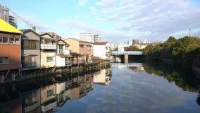 Bello paesaggio urbano intorno aKanagawa-KEN stock footage