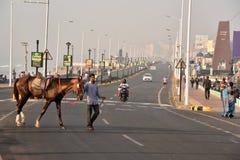 Bello paesaggio urbano a Visakhapatnam Fotografia Stock