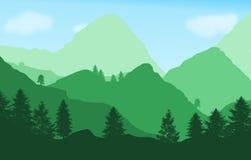 Bello paesaggio verde Fotografie Stock Libere da Diritti