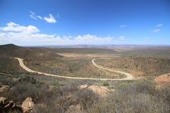 Bello paesaggio vicino ad area di regione selvaggia di Cederberg, Sudafrica fotografia stock