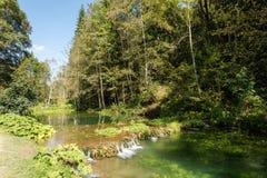 Bello paesaggio vicino alla baia di Wimsener in camice sveve Immagine Stock