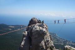 Bello paesaggio visibile sulle montagne di ai - Pétri Fotografie Stock Libere da Diritti
