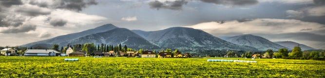 Bello panorama da Beskydy, repubblica ceca Fotografie Stock