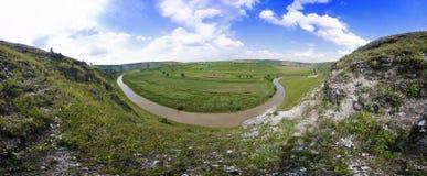 Bello panorama del paesaggio moldavo Fotografia Stock