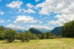 Bello panorama delle alpi italiane nel giorno di estate Immagine Stock Libera da Diritti
