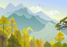 Bello panorama delle colline Himalayan Fotografia Stock Libera da Diritti