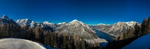 Bello panorama di Achensee del lago Fotografia Stock