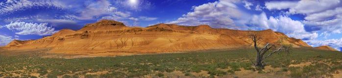 Bello panorama pittoresco Ustyurt Fotografie Stock Libere da Diritti
