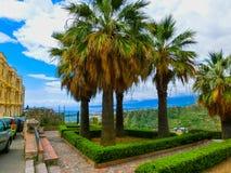 Bello panorama Taormina Sicilia, Italia del paesaggio Fotografia Stock