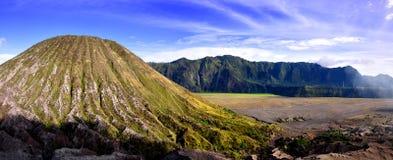 Bello panoramico del vulcano Fotografie Stock Libere da Diritti
