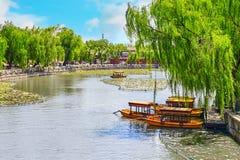 Bello parco di Beihai, vicino alla Città proibita, Pechino Fotografia Stock