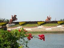Bello parco indiano dell'acqua Fotografia Stock Libera da Diritti