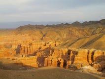 Bello parco nazionale profondo di Charyn del canyon (Sharyn) Fotografia Stock