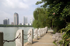 Bello parco nella città fotografia stock libera da diritti