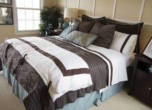 Bello particolare della camera da letto Immagine Stock