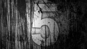 Bello passaggio leggero con il numero cinque (5) illustrazione di stock