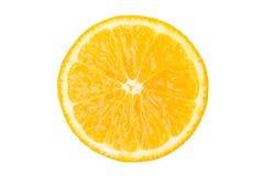 Bello pezzo rotondo di agrumi arancio, isolato su bianco Immagini Stock