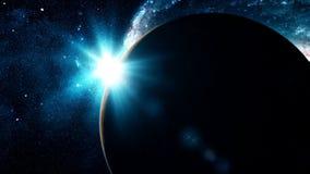 Bello pianeta realistico Mercury da spazio profondo stock footage