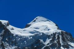 Bello picco della neve delle Ande Immagini Stock