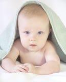 Bello piccolo neonato dopo il bagno Immagine Stock Libera da Diritti
