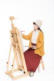 Bello pittore sveglio della ragazza Immagine Stock Libera da Diritti