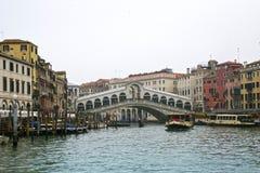 Bello ponte di Rialto Fotografie Stock Libere da Diritti