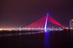 Bello ponte nella città di Da Nang fotografia stock