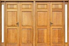 Bello portello di legno Fotografia Stock Libera da Diritti