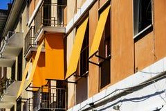 Bello portico in Civitavecchia Fotografia Stock Libera da Diritti