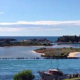 Bello porto di Narooma Fotografia Stock Libera da Diritti