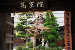 Bello portone di giardino giapponese Fotografie Stock Libere da Diritti