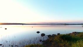 Bello posto dal lago stock footage