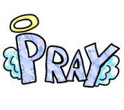 Bello preghi il logo illustrazione vettoriale