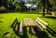 Bello primo piano olandese degli elementi del parco della città Fotografia Stock