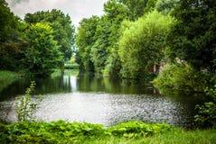 Bello primo piano olandese degli elementi del parco della città Immagine Stock Libera da Diritti