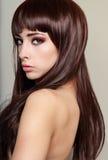 Bello profilo del fronte della donna Fotografia Stock