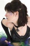 Bello profilo della giovane donna Fotografia Stock Libera da Diritti