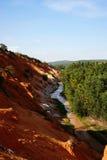 Bello punto di riferimento del canyon leggiadramente nel pomeriggio, Vietnam della corrente Fotografia Stock