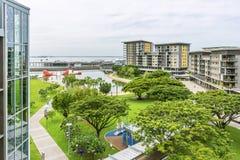 Bello punto di vista di Darwin Waterfront, Australia di giorno, in un momento di tranquillit? fotografie stock libere da diritti