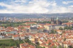 Bello punto di vista della st Vitus Cathedral, del castello di Praga e di Mala Strana a Praga, punto di vista di Ceco RepublicBea Immagine Stock Libera da Diritti