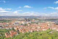 Bello punto di vista della st Vitus Cathedral, del castello di Praga e di Mala Strana a Praga, punto di vista di Ceco RepublicBea Fotografia Stock Libera da Diritti